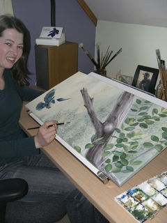 Painting 'Flight of the Kingfisher' - 2006