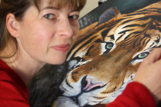 Painting a Sumatran Tiger – 2013