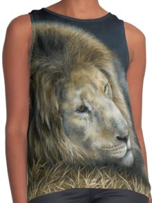 Africa Dozing - Lion by Marie-Claire Colyer, contrast tank top