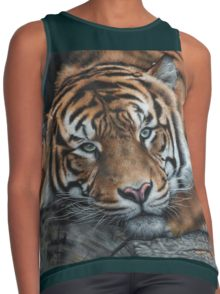 Intensity - Sumatran Tiger by Marie-Claire Colyer, contrast tank top