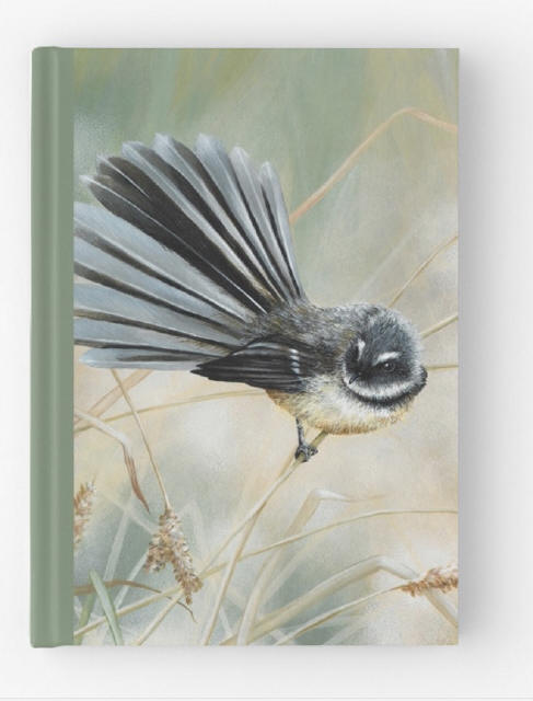 Morning Ligh t- fantail, hardcover journal featuring  artwork by Marie-Claire Colyer