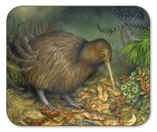 Jason Products coaster - Brown Kiwi Dusk